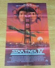 STAR TREK IV THE VOYAGE HOME ORIGINAL 1986 US ONE SHEET CINEMA POSTER Shatner