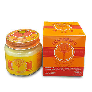Golden Cup Balm Thai Ointment Herbal Massage Muscular Pain Relief
