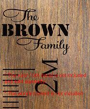 The Custom Family  Add-On Sticker Growth Chart Ruler Head Nursery Vinyl Decal