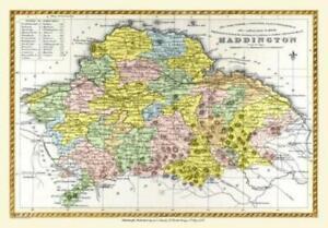Map of Haddington Scotland 1847 by A&C Black - 1000 Piece Jigsaw Puzzle