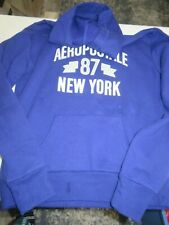 AEROPOSTALE HOODED SWEATSHIRT SZ: SMALL (PURPLE)