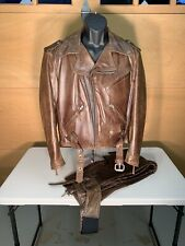 Harley Davidson  Classic Leather Jacket and Matching chaps Size Small