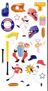 BASEBALL NEW STYLE Sport - Sticko Stickopotamus Scrapbooking Craft Sticker SALE