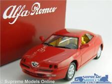 ALFA ROMEO GTV MODEL CAR 1:43 SCALE SOLIDO + TIN DEALER SPECIAL RED 203024 K8