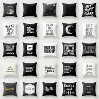 18'' Cotton Funny Letter throw pillow case for sofa car cushion cover Home Decor