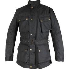 Richa Bonneville Textile Wax Cotton Armoured Motorcycle Jacket - Black