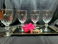 Vintage Libbey Duratuff Crystal Clear Gibraltar Water / Juice Goblets - Set of 4