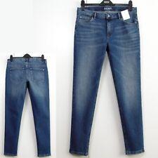 M&S Low Rise SKINNY LEG Ankle Skimmer JEANS ~ Size 14 Reg ~ MID BLUE