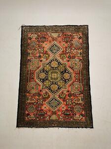 Antique Vintage Middle Eastern Silk Prayer Mat / Rug