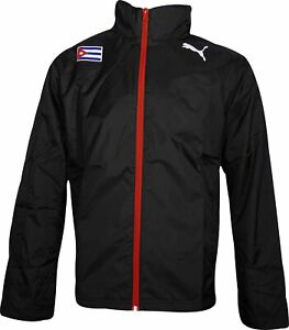 Puma Spirit Cuba Mens Running Rain Jacket - Black