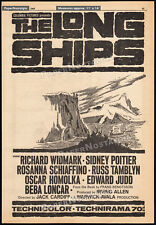 THE LONG SHIPS__Orig. 1963 Trade AD promo_poster__SIDNEY POITIER_RICHARD WIDMARK