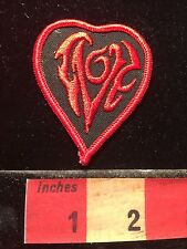 Red On Black LOVE Patch ~ Writing So Famcy It's Hard To Read C60L