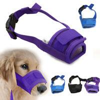 Dog Safety Muzzle Muzzel Adjustable Biting Barking Chewing Small Medium