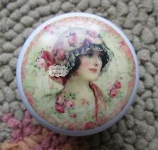 Victorian Woman White Ceramic Porcelain Door Cabinet Drawer Knob Vintage Decals