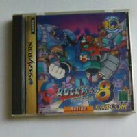 Rockman 8 Sega Saturn Metal Heroes Mega Man Manual Wear SS Japan Import F/S USED