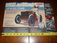 2015 THE RACE OF GENTLEMEN CRAFTSMAN TOOLS OILERS CAR CLUB -  ORIGINAL 2 PAGE AD