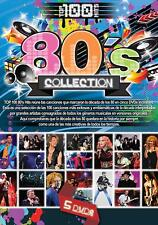 """80'S COLLECTION """"TOP 100 HITS"""" [5 DVD'S] MADONNA,AIR SUPPLY,QUEEN,ROD STEWART,ER"""