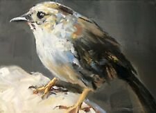 Original ACEO Miniature Oil Painting, Bird by Gary Bruton