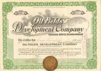 Oil Fields Development Company > 1918 Arizona stock certificate share