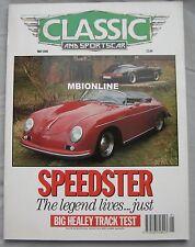 Classic & Sportscar 05/1990 featuring Porsche, Morgan, Lancia, Citroen, Delhaye
