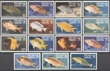 Pitcairn Islands 1984 Fish/Eel/Marine/Nature/Wildlife 15v set (s2655)