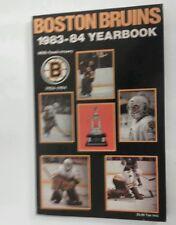 Vintage Hockey 1983-84 BOSTON BRUINS Ray Bourque Media Guide Rare NHL