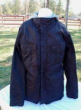 2011 NIKE MENS M 6.0 3 in 1 SNOWBOARD JACKET $200 black grey XL USED hoodie 6.0
