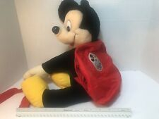Vintage Mickeys Pals Plush Backpack Disney Mickey Mouse