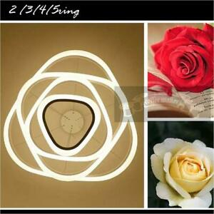 Round Art LED Rings Ceiling Pendant Fixture Chandeliers Home Living Bedroom AU