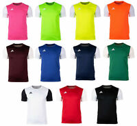 Adidas Mens New Estro 19 Gym Sports Tee T-Shirt Top Football Short Sleeve Crew