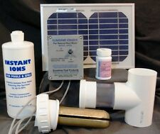 SOLAR POWERED LARGE DELUXE POOL IONIZER MODEL SPDSWS2 With Silver