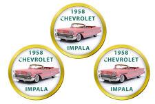 Chevy, 1958 Chevrolet Impala Car Golf Ball Markers