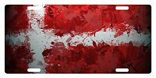 DENMARK Flag Custom License Plate  Emblem PAINT Version