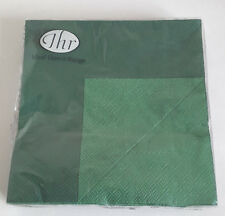 6 packs of 20 Lunch Paper Napkins Doublo  Dark Green. 33x33cm. 3ply