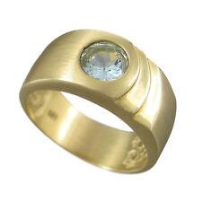 Schmuck-Michel Damen Ring  Gold 585 Aquamarin 0,8 Karat - Größe 57  (3040)