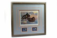 1986 First of State Waterfowl Washington Duck Stamp Print Framed Keith Warrick