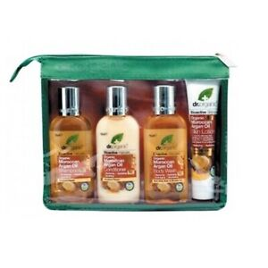 DR ORGANIC Moroccan Argan Oil Travel Pack - Shampoo Conditioner Body Wash Lotion
