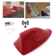 Shark Fin RED Antenna Aerial FM/AM Radio Signal Decoration Car Trim Universal
