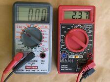Craftsman Digital Multimeter + Centech digital multimeter