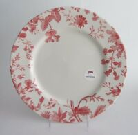"""Royal Stafford Floral Weave Red 11"""" DINNER Plates England SET of 4 NEW"""