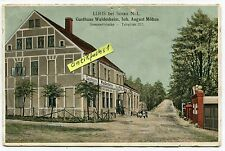 Postkarte von 1918 : Lohs bei Sorau / Żary , Gasthaus Waldesheim