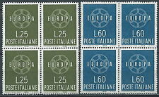 1959 ITALIA EUROPA QUARTINA MNH ** - JU057