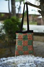 Indian Towel Carry Bags Hand Bag Cotton Mandala Abstract Design Handmade Ethnic