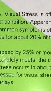 A4 244 Full Green Coloured Sheet Overlay Dyslexia Transparent Stress reading