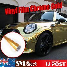 Cooling Chrome Gold Vinyl Wrap Film Car SUV Full Body Pillars Decal 1.51M x 30CM