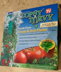 Topsy Turvy, The Original Patented Upside Down Tomato And Herb Planter.