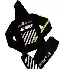Hudson Mens 100%authentic 2p set Hoodie & sweat pants size Large black icons