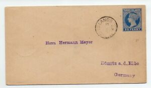 1903 Turks Islands 2 1/2d Postal Stationery Envelope mailed to Germany H&G B1a