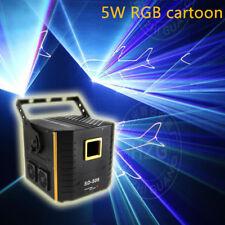 5W RGB animation laser light 12 CH ILDA sound AUTO stage light 5000mw full color