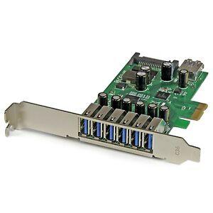 StarTech.com 7 Port PCI Express USB 3.0 Card Standard and Low-Profile Ports P...
